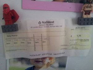 Natwest have generously started the ball rolling at £1.75